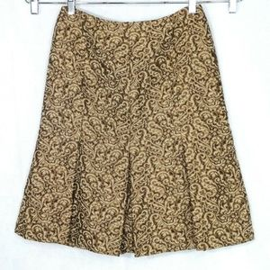 Ann Taylor Skirt Women Size 4 Brown Paisley